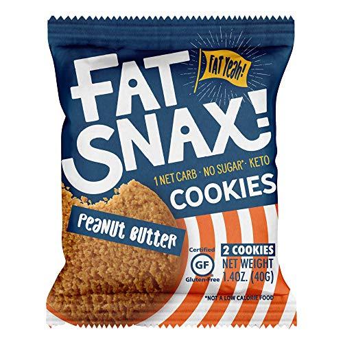 Fat Snax Keto Cookies - Low Carb, Keto, and Sugar Free Peanut B...