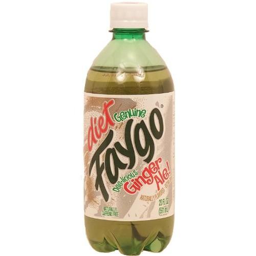 Faygo diet ginger ale, extra dry, 20-fl. oz. plastic bottle