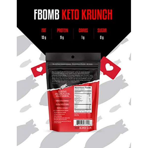 FBOMB Cheese Crisps 6 Pack: Crunchy, Oven Baked Keto & Low Carb ...