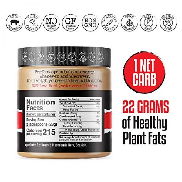 FBOMB Macadamia Nut Butter: Keto Fat Bombs, Natural Roasted Maca...
