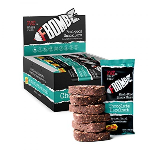 FBOMB Real Food Snack Bars: Clean, Low Carb, Natural Ingredients...
