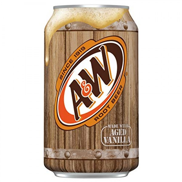 A&W Original Classic Root Beer Soda Soft Drink Beverage Cans - 1...