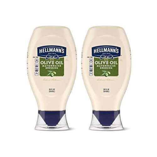 Hellmanns Premium Mayonnaise Dressing With Olive Oil Easy Squee...