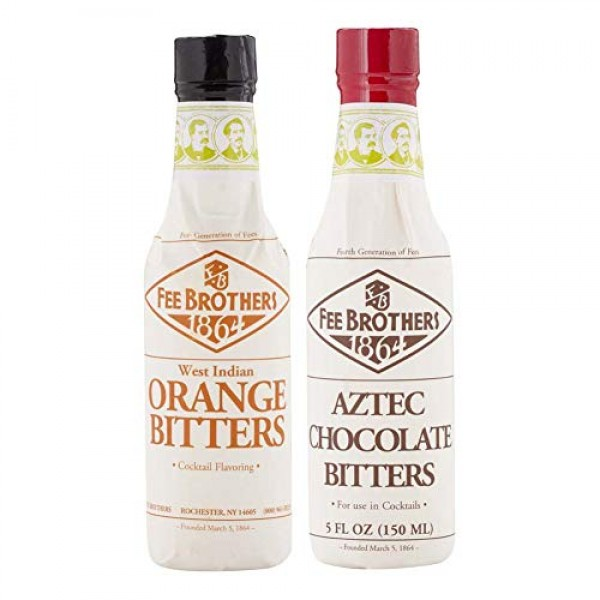 Fee Brothers Cocktail Bitters - Aztec Chocolate & West Indian Or...