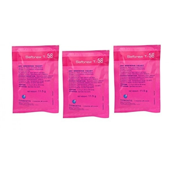 Fermentis Safbrew T-58 3 Count 11.5 g Packs