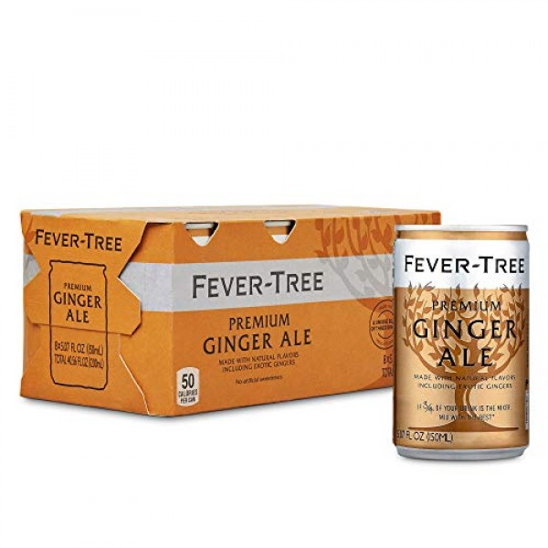 Fever-Tree Premium Ginger Ale Cans, No Artificial Sweeteners, Fl...