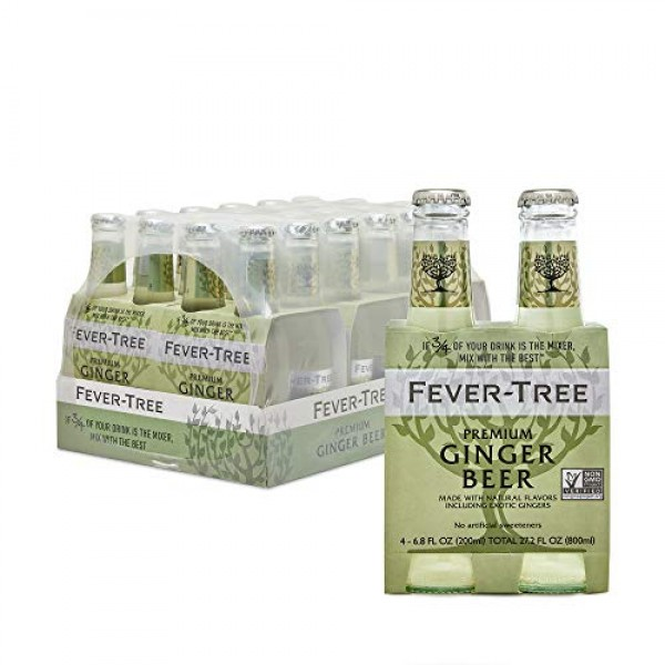 Fever-Tree Premium Ginger Beer, No Artificial Sweeteners, Flavou...