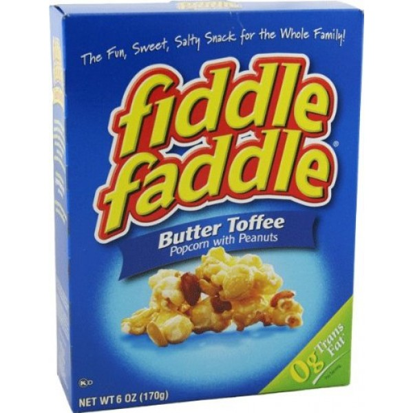 Fiddle Faddle Butter Toffee Popcorn with Peanuts Six Boxes