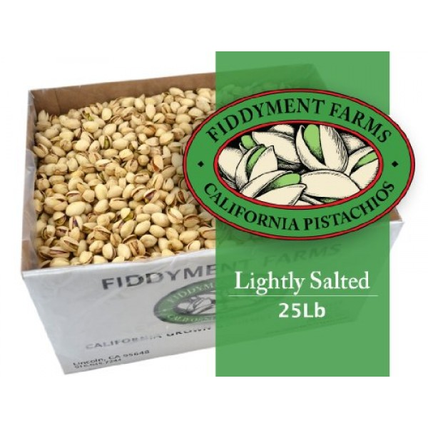 Fiddyment Farms 25 Lbs Salted In-shell Pistachios