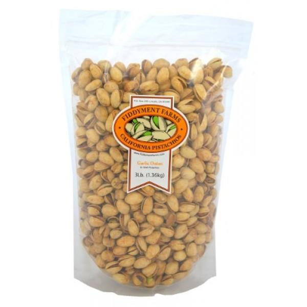 Fiddyment Farms 3lb Garlic Onion In-shell Pistachios
