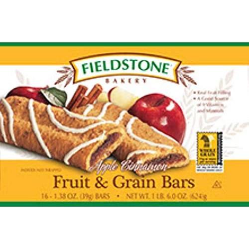Fieldstone Bakery Apple Cinnamon Fruit and Grain Bar - 16 per pa...