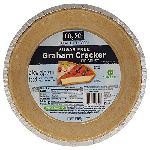 Fifty50 Foods Sugar Free Ready to Eat Graham Cracker Pie Crust, ...
