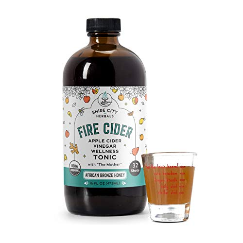 Fire Cider, Tonic, 16 oz with shot glass, African Bronze flavor,...