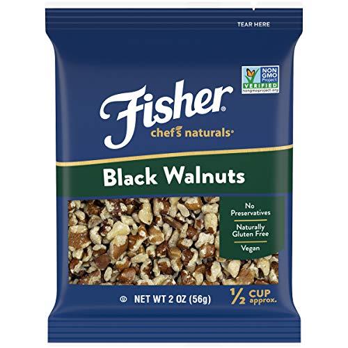 FISHER Chefs Naturals Black Walnuts, 2 oz, Naturally Gluten Fre...