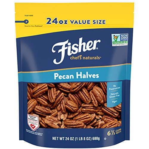 Fisher Chefs Naturals Pecan Halves, 24 oz, Naturally Gluten Fr...
