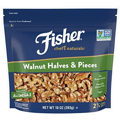 FISHER Chefs Naturals Walnut Halves & Pieces, 10 oz, Naturally ...