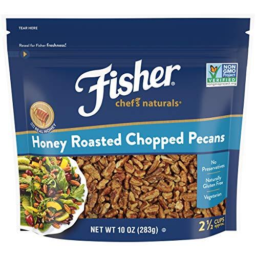 FISHER Chefs Naturals Honey Roasted Chopped Pecans, 10 oz, Natu...