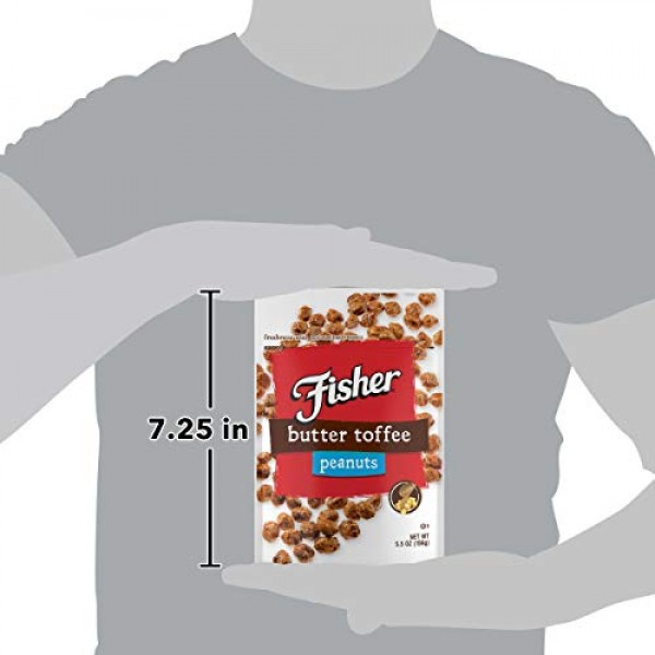 Fisher Snack FISHER Snack Butter Toffee Peanuts, Pack Of 6, 5...