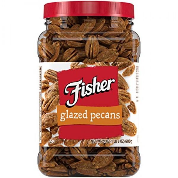 FISHER Snack Glazed Pecans, 24 oz