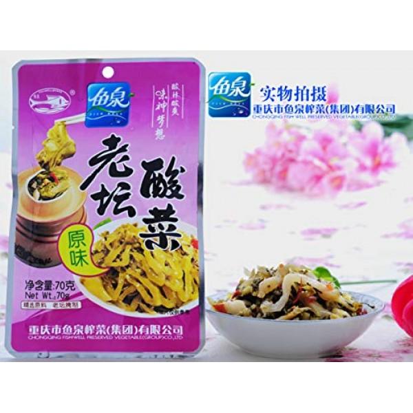 Laotansuancai 老坛酸菜 Preserved Mustard Sauerkraut 70g Sour, 4...