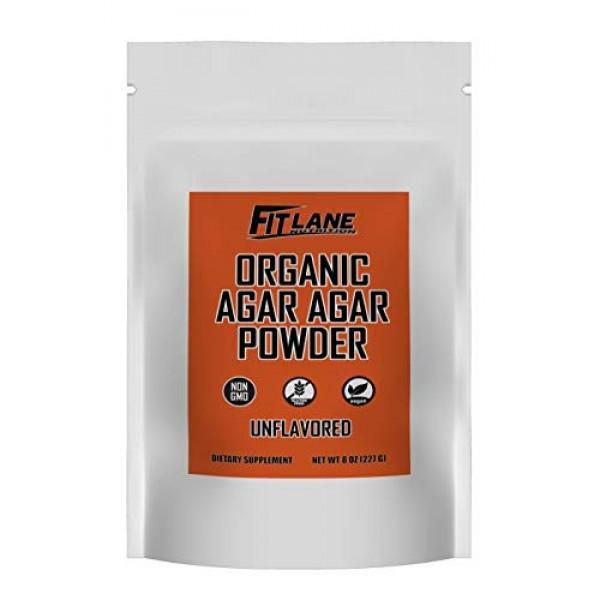 Agar Agar Powder. Organic Vegan Vegetarian Gelatin. Non GMO, H...