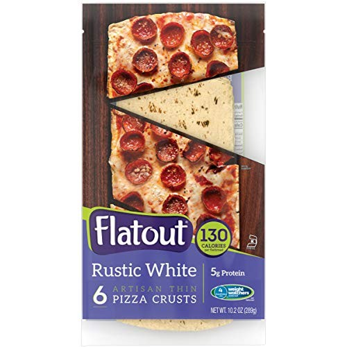 FLATOUT Flatbread - Thin Pizza Crust RUSTIC WHITE 1 Pack of 6 P...