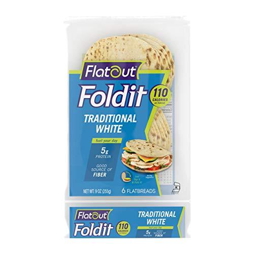 Flatout Foldit, Traditional White 1 Pack of 6 Foldits