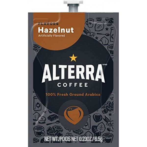 FLAVIA ALTERRA Coffee, Hazelnut, 20-Count Fresh Packs Pack of 5