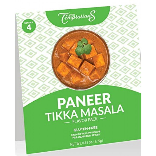 4-SERVING Indian Spice Sets for Paneer Tikka Masala by Flavor Te...