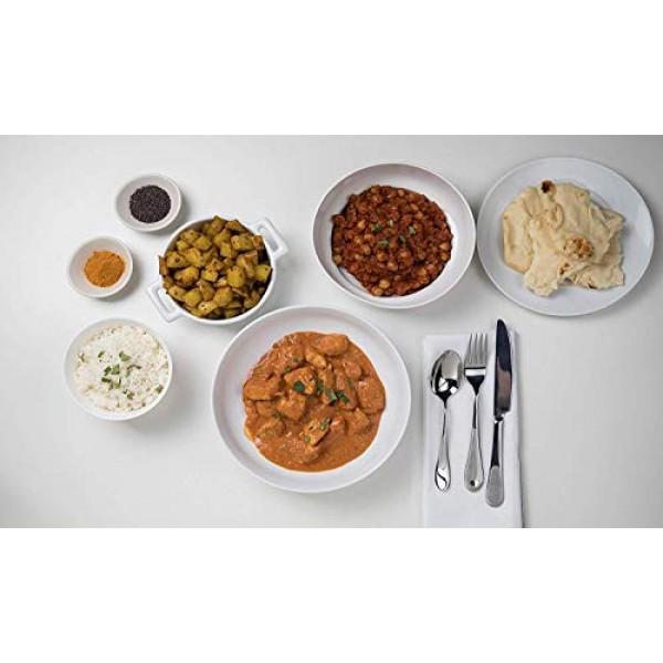 Chicken tikka masala, chana masala, potato curry indian food spi...