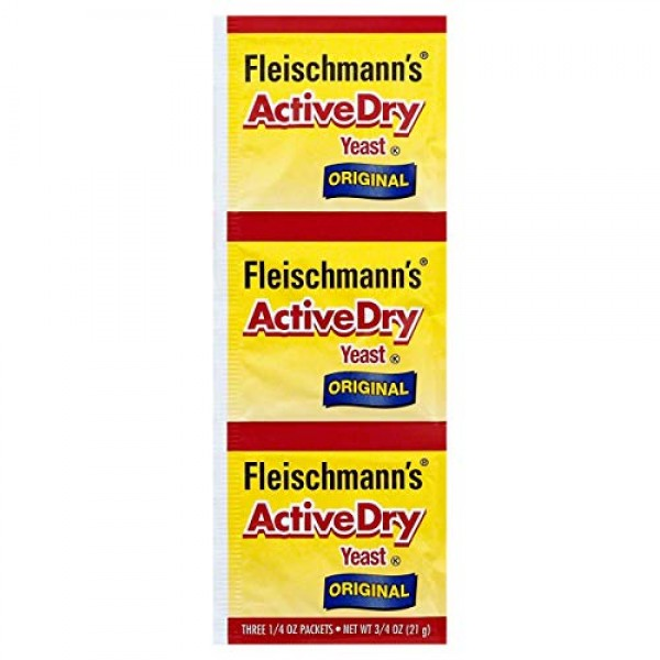 Fleischmanns Yeast, Active, Dry, 0.75-Ounce Packet Pack of 15
