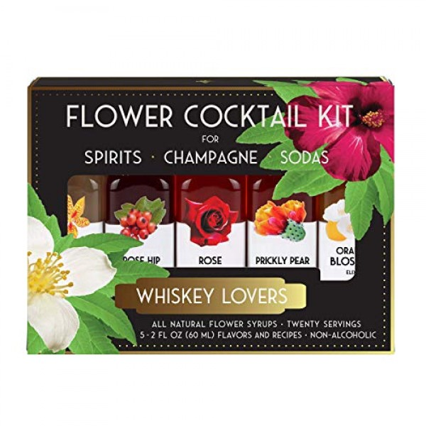 Floral Elixir Co. Cocktail Kit for Whiskey Lovers