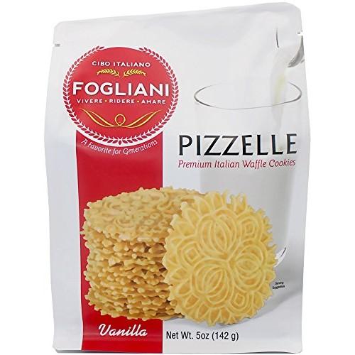 Fogliani Vanilla Pizzelle Waffle Cookies Pack of 1