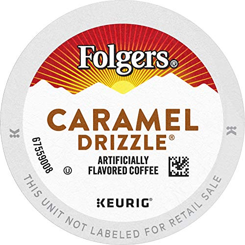 Folgers Caramel Drizzle Flavored Coffee, 96 K Cups for Keurig Co...