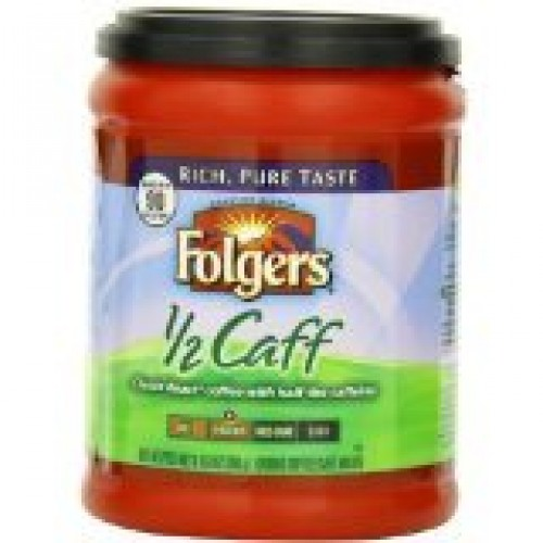 Folgers Half Caff Coffee, 10.8 Ounce Pack of 2