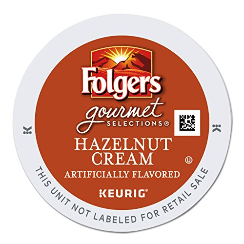 Folgers Hazelnut Cream K-Cup for Keurig Brewers, 96 Count