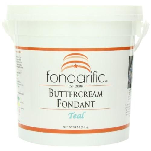 Fondarific Buttercream Teal Fondant, 5-Pounds