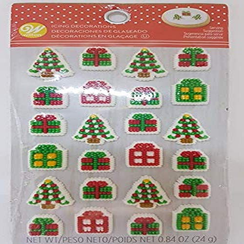Food Items 708-0-0073 Icing Decorations PRSNT, Tree and Presents