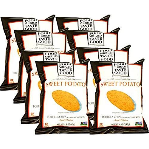 Food Should Taste Good Sweet Potato Tortilla Chips, 1.5 oz (Pack...