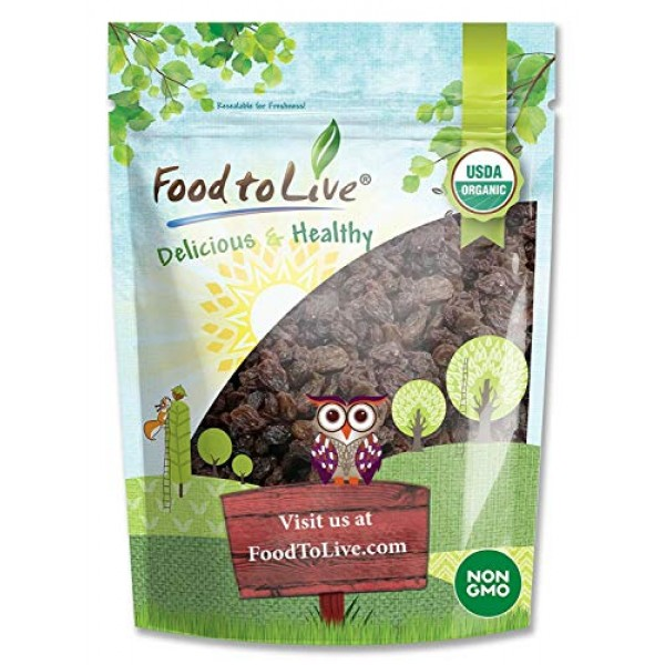 California Organic Raisins, 8 Ounces - Thompson Seedless Select,...