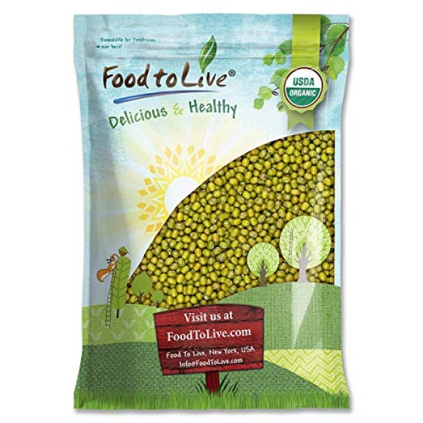 Certified Organic Mung Beans by Food to Live Sprouting, Non-GMO...