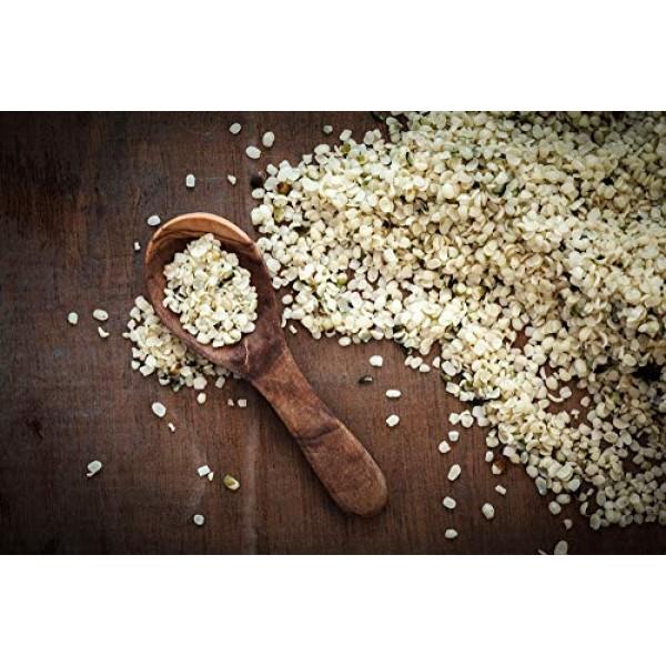 Chinese Organic Hemp Seeds, 1 Pound — Raw Hearts, Hulled, Non-GM...