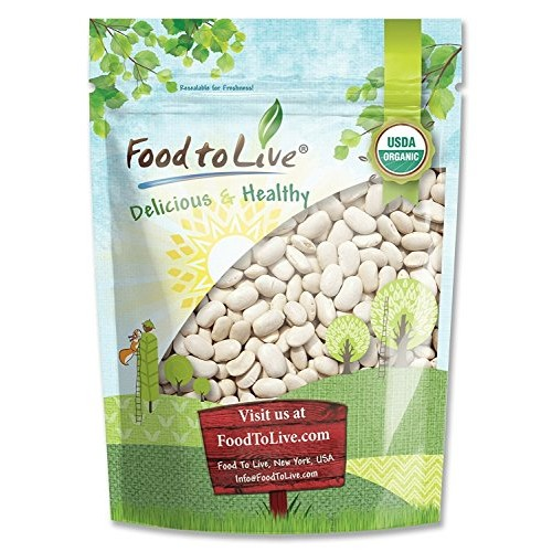 Organic Cannellini Beans, 1 Pound - Raw, Dried, Non-GMO, Kosher,...