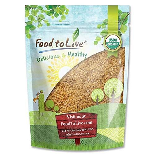 Organic Golden Flaxseed Whole, Raw, Non-GMO, Kosher, Bulk by F...