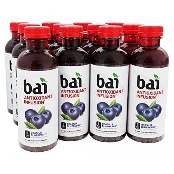 Bai - Antioxidant Infusion Beverage Brasillia Blueberry - 12 Bot...