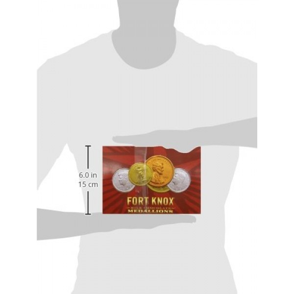 Fort Knox Huge Medallion Chocolates, 2 Ounce Pack of 20
