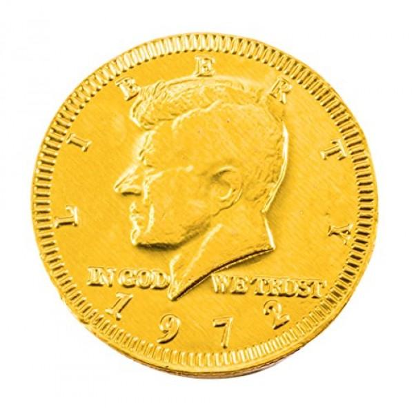 Gold Colored Bulk Dutch Milk Chocolate Coins, 5 Pounds, 420 Coin...