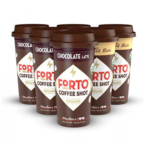 FORTO Coffee Shots - Variety Pack, Ready-to-Drink on the go, Col...