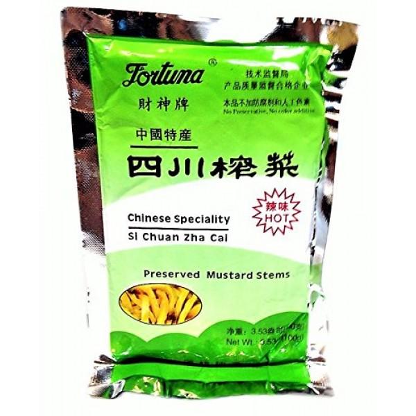 Sichuan Zha Cai Preserved Mustard Stems - Hot/Spicy - 3.53oz [...