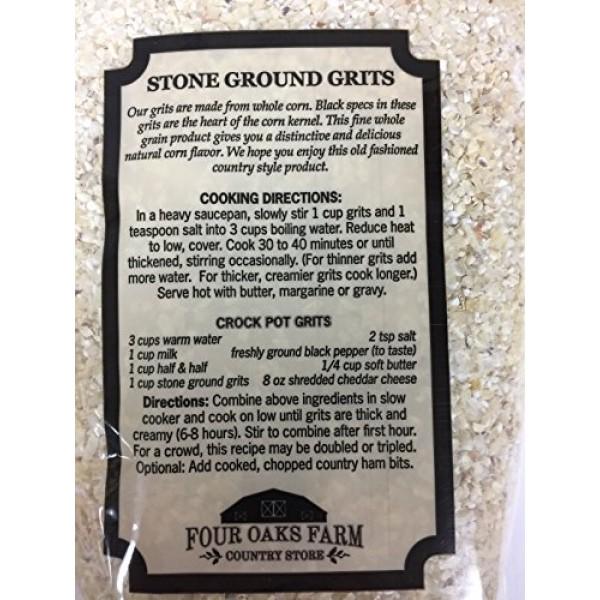 Four Oaks Farm White & Yellow Stone Ground Grits 2 - 24oz. Bags ...